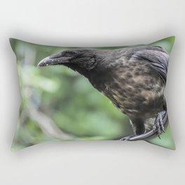 Black Crow Raven Rectangular Pillow