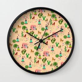 Blooming desret pattern Wall Clock