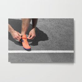 Get up and Run Metal Print