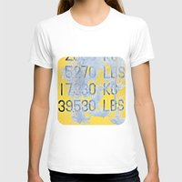 numbers T-shirts featuring Big Numbers  by Ethna Gillespie