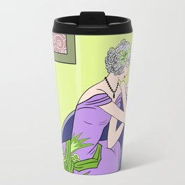CLARICE: Art Deco Lady - Spring Lilac Travel Mug