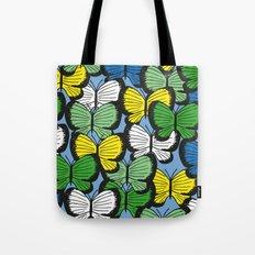 Green yellow blue butterflies Tote Bag