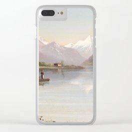 Hubert Sattler (Vienna 1817-1904 Vienna) Lake Zell and the Kitzsteinhorn Clear iPhone Case