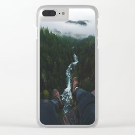 See you at the top! | Vance Creek Bridge - Olympic National Park, WA Clear iPhone Case