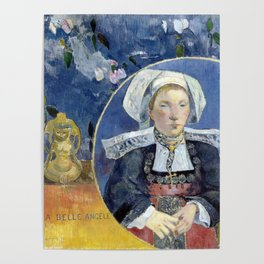 """Paul Gauguin """"La belle Angèle (Madame Angele Satre, the Innkeeper at Pont-Aven)"""" Poster"""