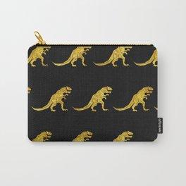 Golden T.Rex Pattern Carry-All Pouch