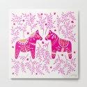 Swedish Dala Horses – Pink Palette by catcoq