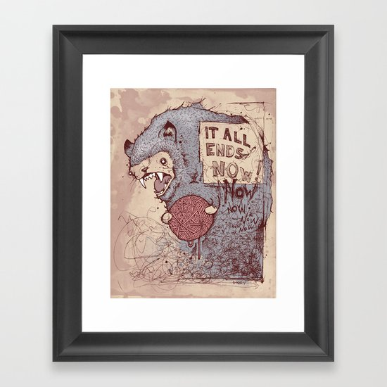 It all ends now Framed Art Print