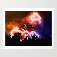 u2 Art Prints featuring U2 / Adam Clayton / The Edge by JR van Kampen