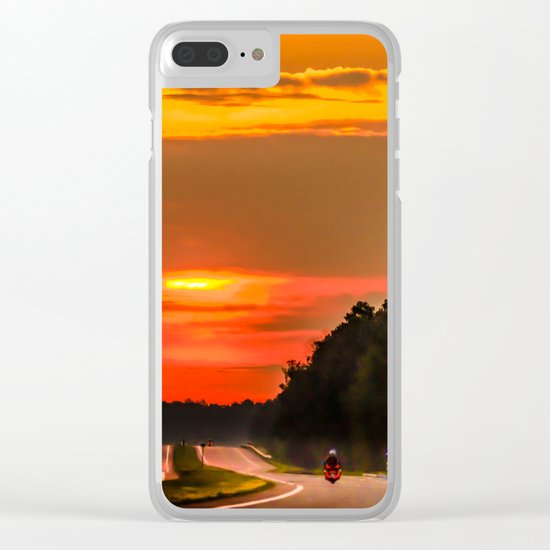 Road to the sun Clear iPhone Case