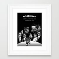 goodfellas Framed Art Prints featuring GOODFELLAS by BONES ART