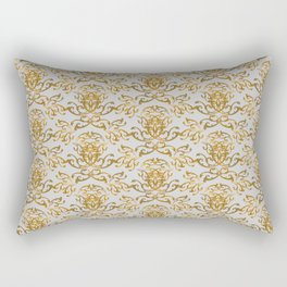 Gold Flourish Wall Rectangular Pillow