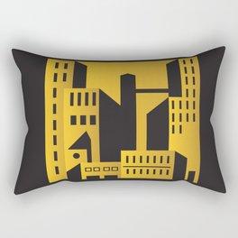 Golden city art deco Rectangular Pillow