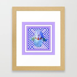 DECO LILAC PURPLE PASTEL IRIS PATTERN Framed Art Print