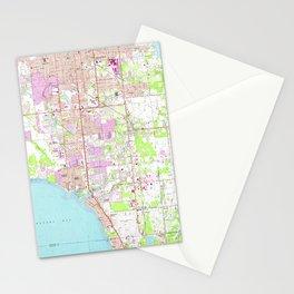 Vintage Map of Bradenton Florida (1964) Stationery Cards