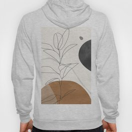 Abstract Art /Minimal Plant Hoody