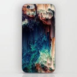 Cave of Wonders - Abstract Glitch Pixel Art iPhone Skin