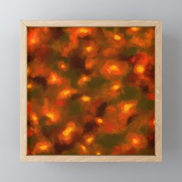 Glowing Ember Floral Abstract Framed Mini Art Print