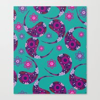 paisley Canvas Prints featuring Paisley by luizavictoryaPatterns
