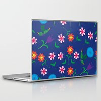 floral pattern Laptop & iPad Skins featuring Floral pattern  by luizavictoryaPatterns