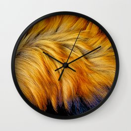 Cool brown textured animal horse tail fur design Wall Clock