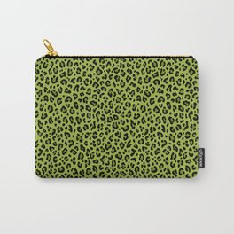 PSYCHOBILLY GREEN LEOPARD PRINT – Lime Green | Collection : Leopard spots – Punk Rock Animal Prints. Carry-All Pouch