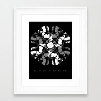 leather Framed Art Prints featuring LEATHER by muckypets