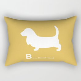 Basset Hound | Dogs series | Mustard Yellow Rectangular Pillow