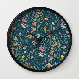 Wild Flower Wall Clock