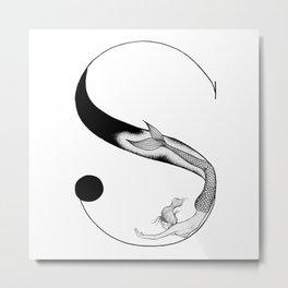 Mermaid Alphabet - S Metal Print