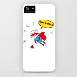 Flying Super Grandma iPhone Case