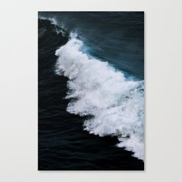 Powerful breaking wave in the Atlantic Ocean - Landscape Photography Canvas Print