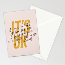 Its OK quotes Stationery Cards