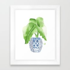 Ginger Jar + Elephant Ears Framed Art Print