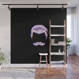 Barber Hair Funny Vintage Classic Barber Retro Distressed Gift Wall Mural