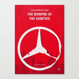 No955 My The Bonfire of the Vanities minimal movie poster Canvas Print