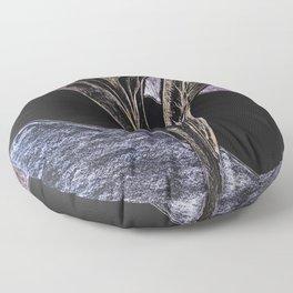 Metallic orchid Floor Pillow