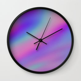 Iridescent Holographic Abstract Colorful Pattern Wall Clock