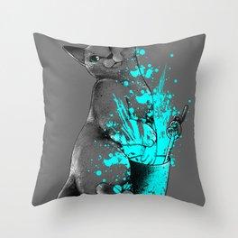 Russian Blue Throw Pillow