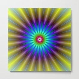 Sun Beam Flower Metal Print