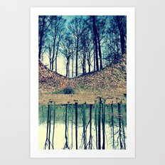 Reflection in the Wood Art Print