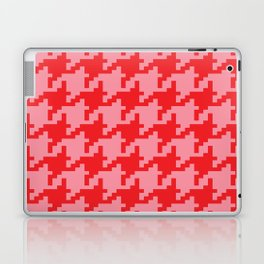 Houndstooth - Pink & Red Laptop & iPad Skin