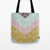 arrows Tote Bags featuring arrows by Emma S