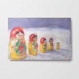 Mastroika Dolls Pastel Metal Print