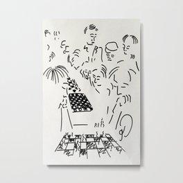 Speed Chess in New York Metal Print