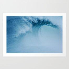 Wave In Fog Art Print