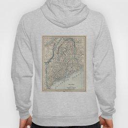 Vintage Map of Maine (1893) Hoody