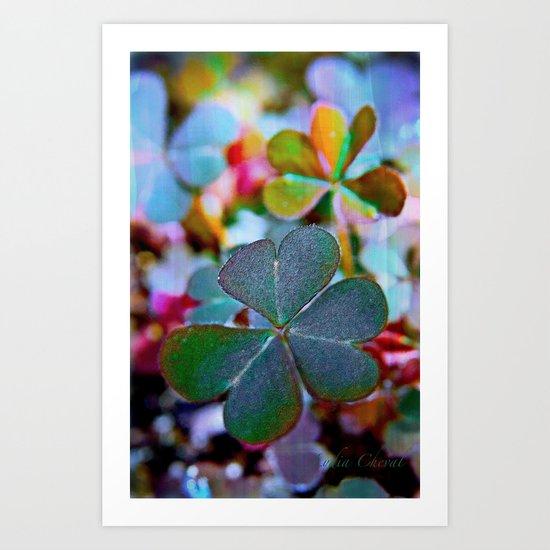 Heart clover Art Print
