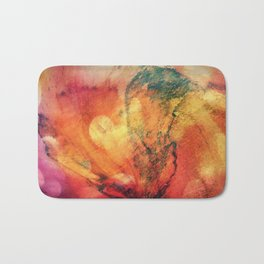 A leaf In The Wood Aflame Abstract Bath Mat