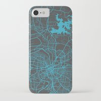 nashville iPhone & iPod Cases featuring Nashville by Map Map Maps